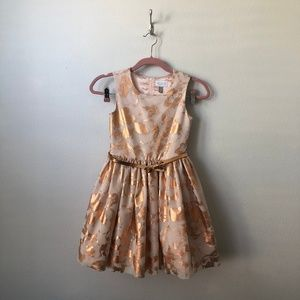 Children's Place Gold Holiday Dress 10